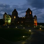 Castle of Mir at night