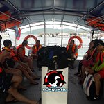 View in our dive boat