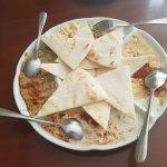 Peshgahza: Hummus, Baba Ganoush, Must O'Khair, Oliveyeh
