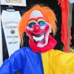 clown in front window