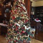 Christmas tree in lobby of Inn
