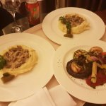 Бефстроганов и овощи гриль