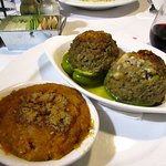 Roasted Stuffed Bell Peppers with Sweet Potato Souffle