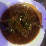The restaurant view with Mutton delicacy