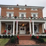 Front of Antrim 1844 Country House all decked out for Christmas 2017.