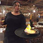 Niki's Opa! Saganaki -- flaming cheese!!