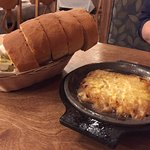 """Niki's Flaming cheese appetizer (when it's done """"flaming""""!)"""