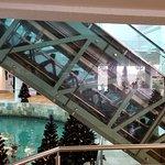 glass escalators