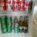 Mini fridge, with extra for the asking (small tip required)