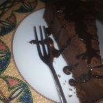 LE cheesecake avec sa sauce au chocolat piquant <3 un délice