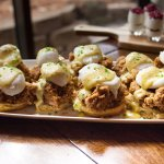 Fried Quail Eggs Benedict