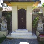 Entrance to our villa