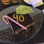 Birthday cake organised by the staff