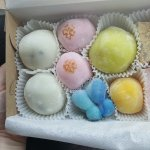 Various flavours of mochi