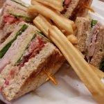 Sandwiches de pavo. Muy buenos.