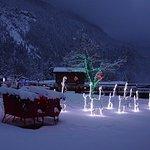 FairmontHS Christmas lights-Santa sleigh