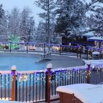 FairmontHS Christmas lights around guest pool