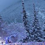 FairmontHS Christmas lights-mountain view