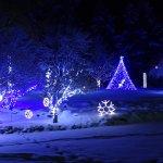 FairmontHS Christmas lights-courtyard in blue