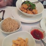 Crispy Honey Chicken with brown rice