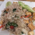 Exotic fried rice with tofu