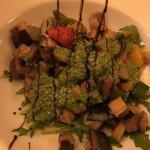 Grilled vegetables with rocket pesto