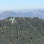 Chail Palace from Siddh Baba BalakNaath Temple, you can also see Shimla behind this