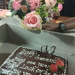 The cake and flowers. Loved it