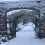 Stapleford Park in the snow is truly something out of a fairytale!