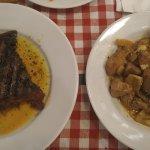 Συκώτι μοσχαρίσιο σχάρας & χοιρινή τηγανιά λεμονάτη