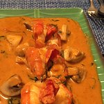 Thai red curry with king prawn