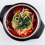 Суп с лапшой, говядиной и овощами