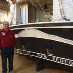 """My cousin, Neil; at the stern of the """"LAGODA"""" model....."""