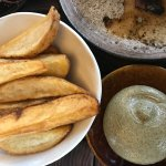 Fried Potatoes with Seaweed Emulsion