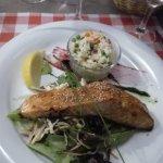 Saumon Frais avec un bon petit Riz et petit-pois frais