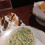 Deviled Eggs and Spinach Dip