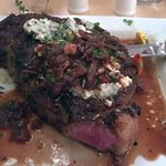 Gorgonzola rib eye steak