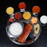 Palya vegetable dry, vegetable  sagoo, dosa, plain rice, curd rice
