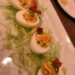Deviled Eggs with Maple Bacon