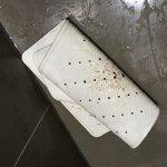 Anti slip mat cover in mould