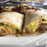 Pork breakfast burrito
