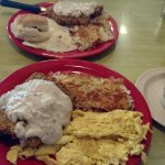 Country Fried Steak, Eggs and hash browns!
