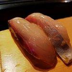 Nigiri sushi.