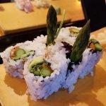 Vegetarian maki-zushi options available.