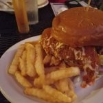 buffalo chicken sandwich and fries