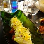 Codfisch mit Avocado-Melonen-Pesto Tatar