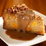 Sweet Potato Pecan Bread Pudding is our most popular dessert.