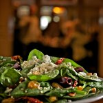 Spinach Salad with Pepper Jelly Vinaigrette - one of our signature salads.