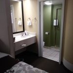 View of sink in room and bathroom