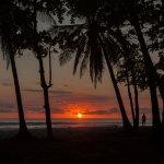 Sunset on beach in Santa Teresa